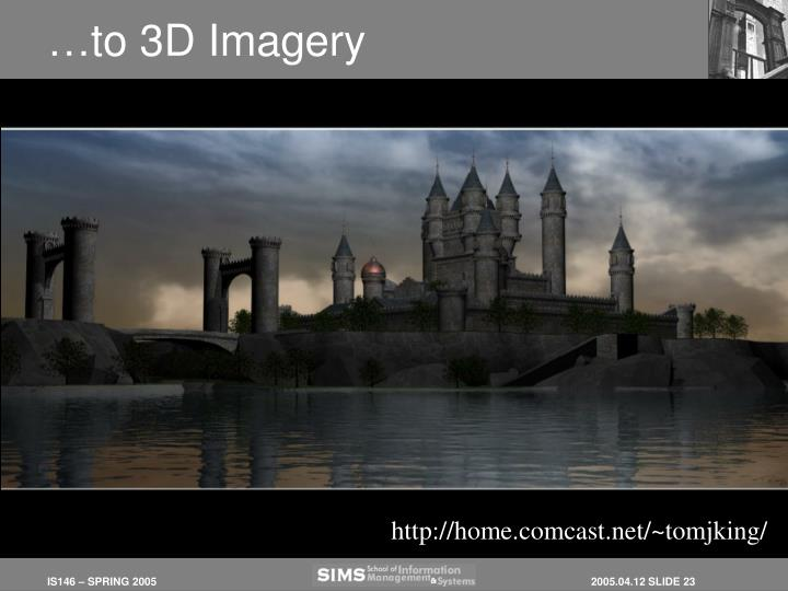 …to 3D Imagery