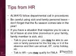 tips from hr