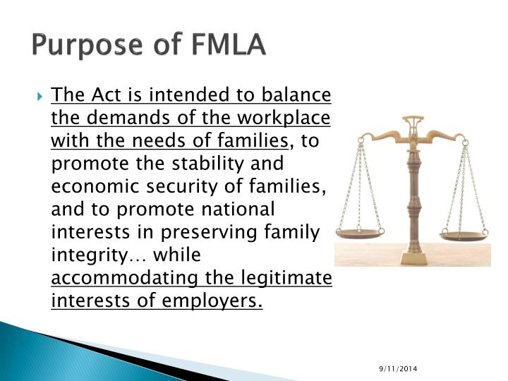 Purpose of FMLA