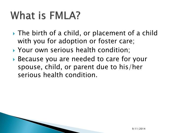 What is fmla1