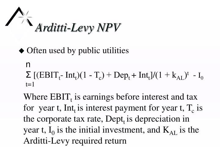 Arditti-Levy NPV