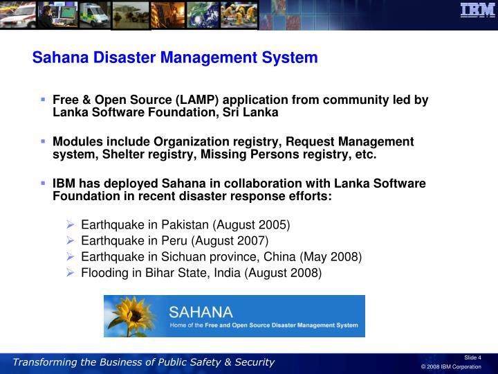 Sahana Disaster Management System