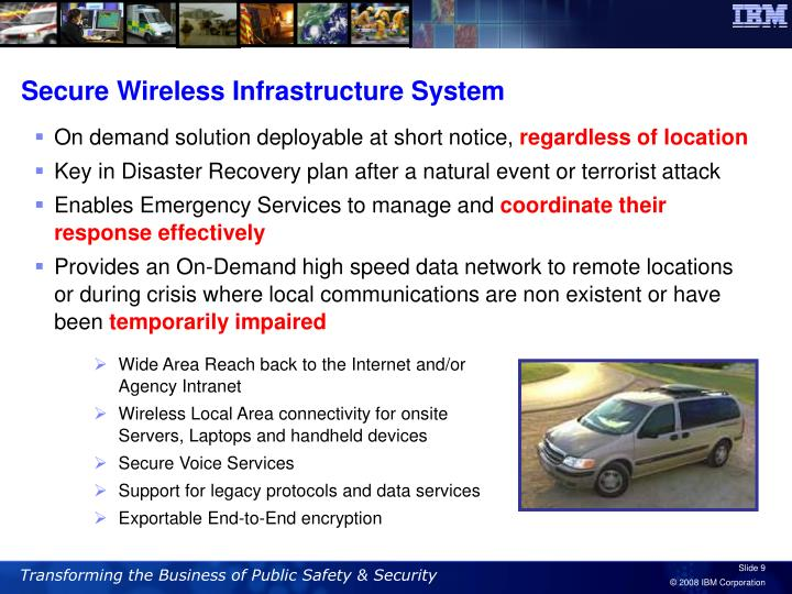 Secure Wireless Infrastructure System