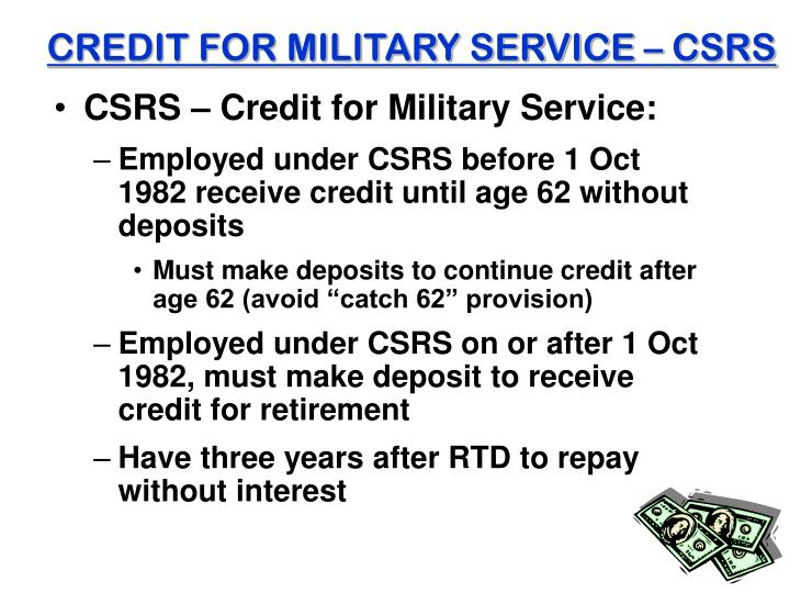CREDIT FOR MILITARY SERVICE – CSRS