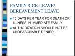 family sick leave bereavement leave