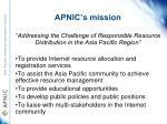 apnic s mission