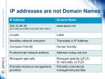 ip addresses are not domain names