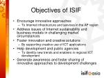 objectives of isif