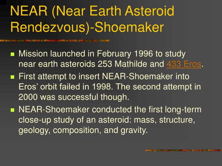 NEAR (Near Earth Asteroid Rendezvous)-Shoemaker