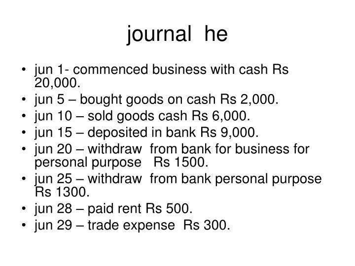 Journal he