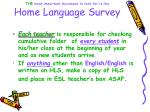 the most important document to look for is the home language survey