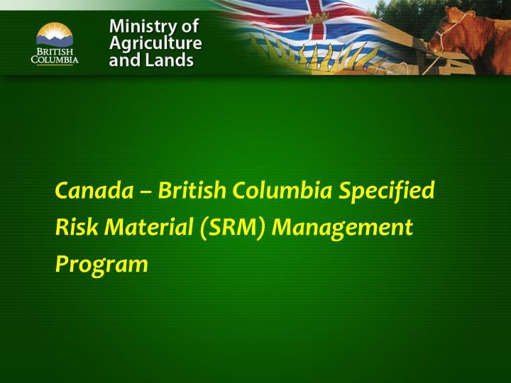 Canada – British Columbia Specified