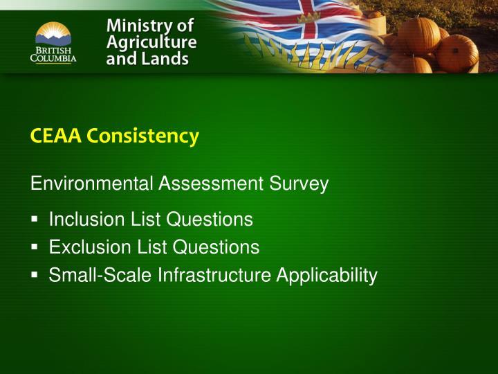 CEAA Consistency