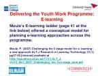 delivering the youth work programme e learning