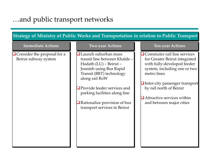…and public transport networks
