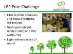 lep prize challenge