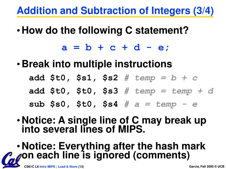 Addition and Subtraction of Integers (3/4)
