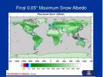 final 0 05 maximum snow albedo