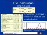 gvf calculation zeng et al 2000