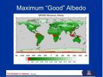 maximum good albedo