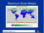 maximum snow albedo