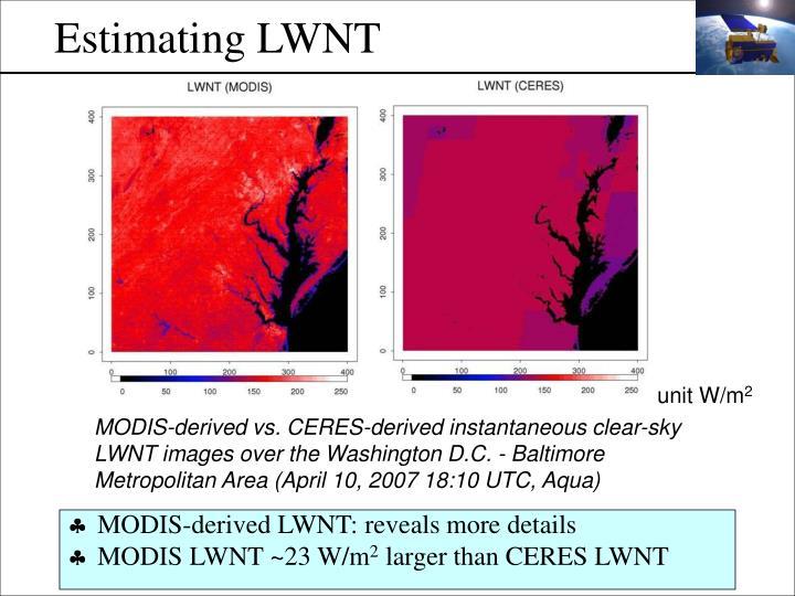 Estimating LWNT