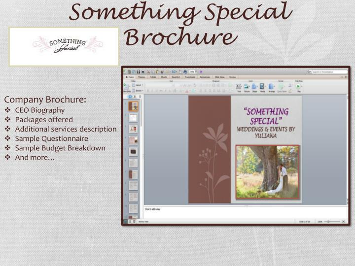 Something Special Brochure