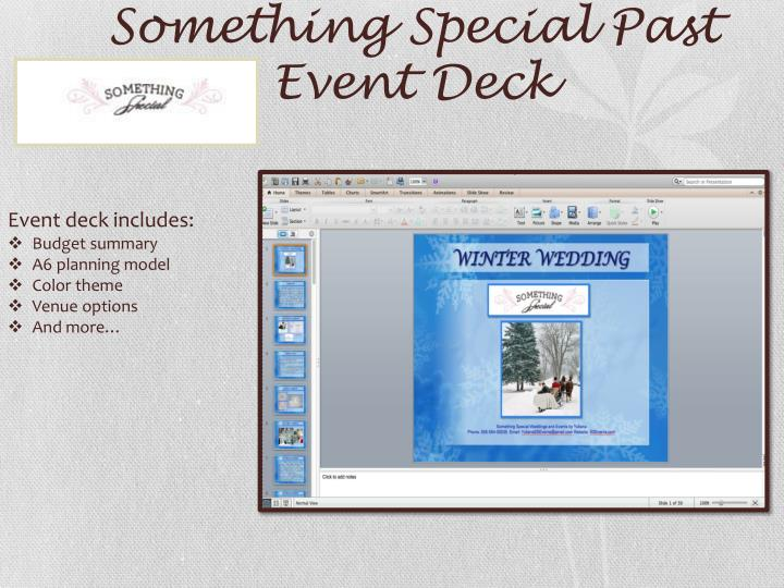 Something Special Past Event Deck