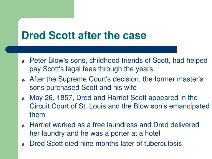 Dred Scott after the case