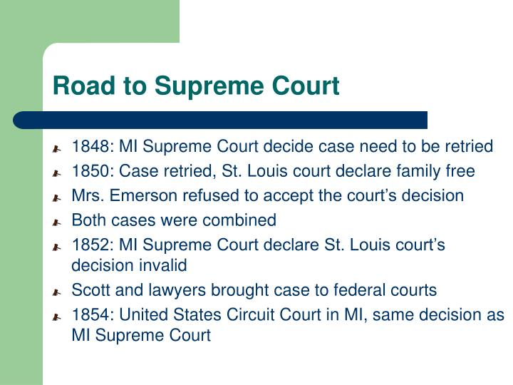 Road to Supreme Court