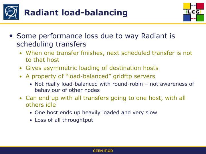 Radiant load-balancing