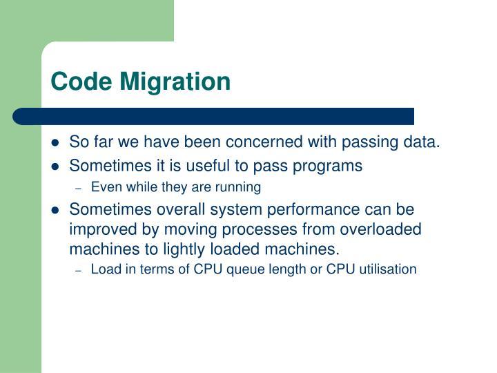 Code Migration