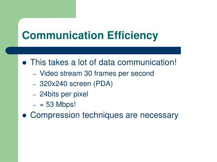 Communication Efficiency