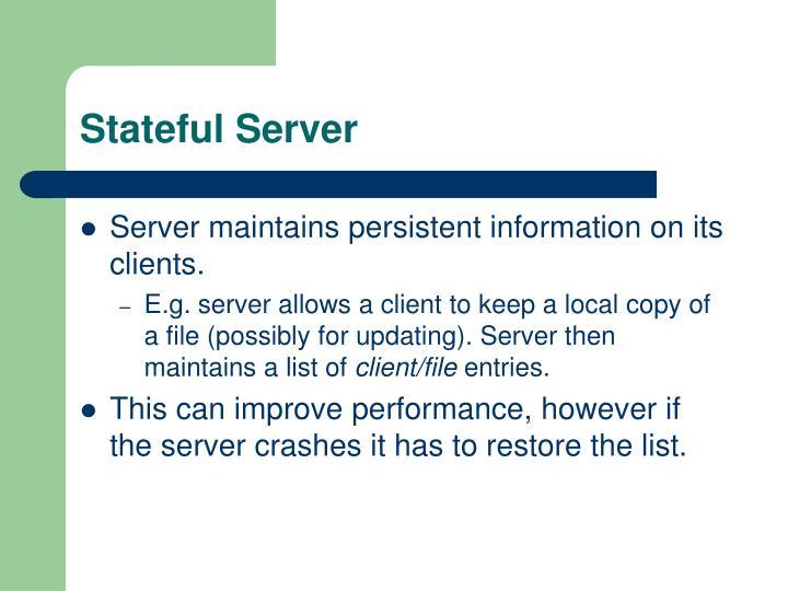 Stateful Server
