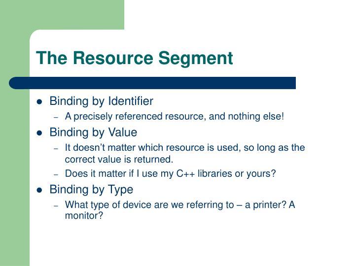 The Resource Segment