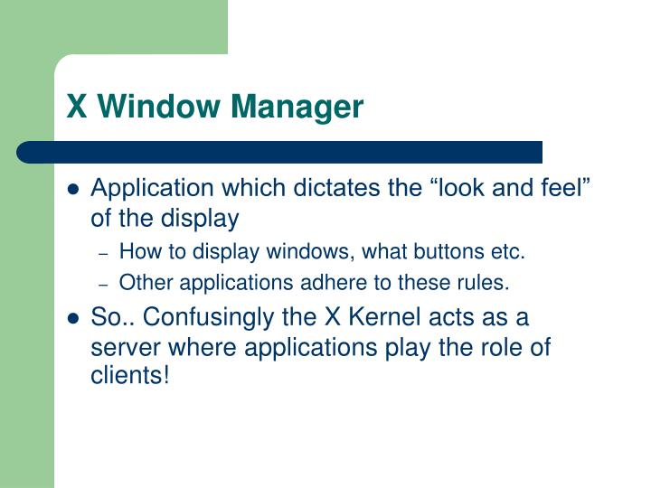 X Window Manager