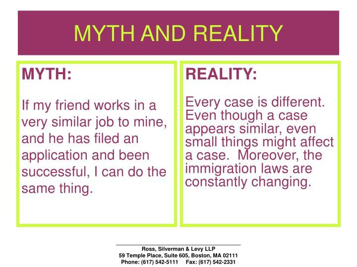 Myth and reality1