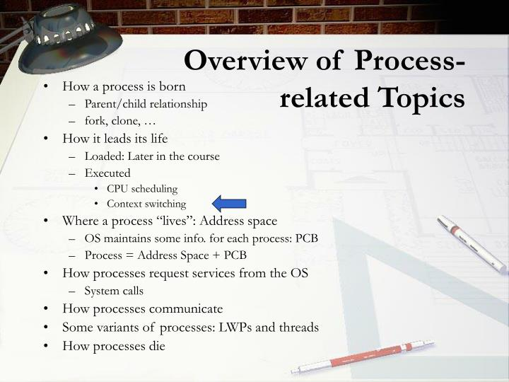 Overview of process related topics