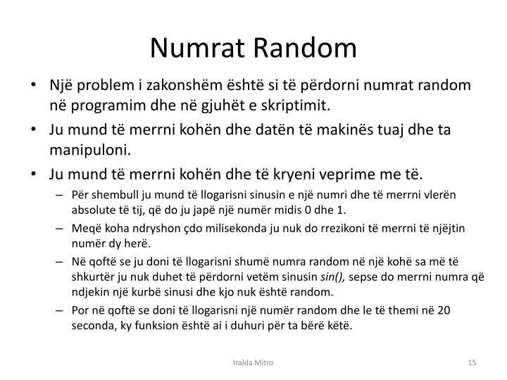 Numrat Random