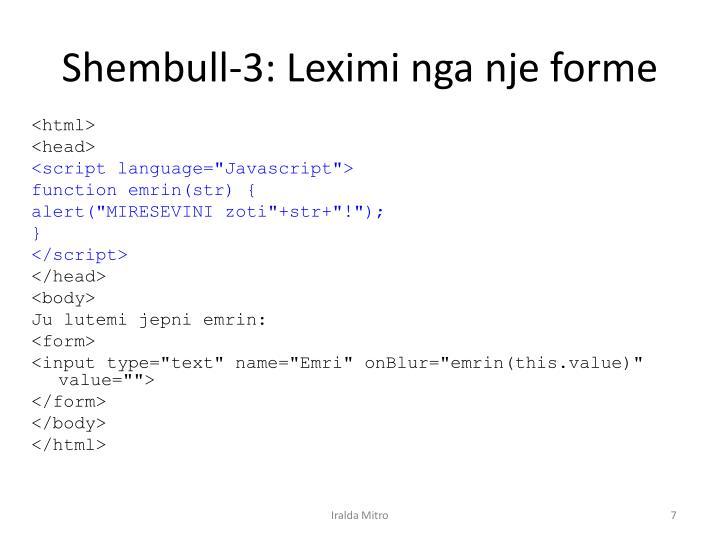 Shembull-3: