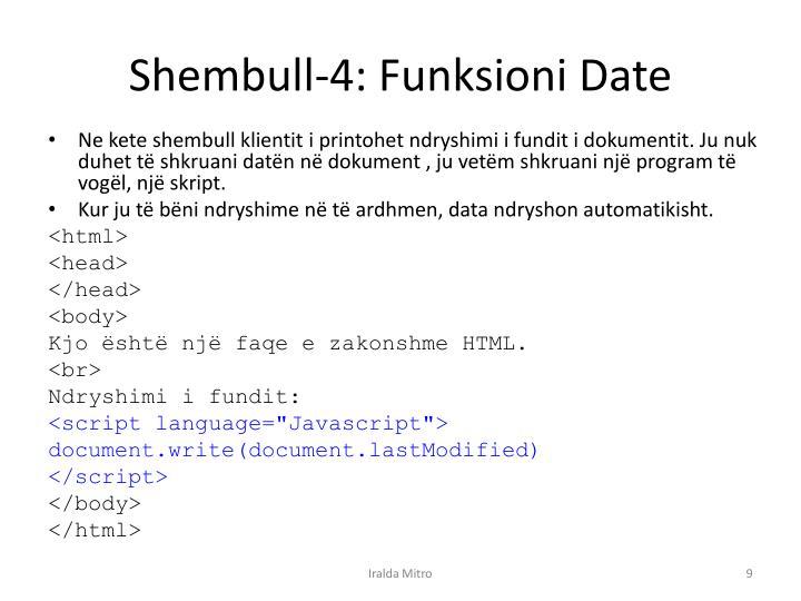 Shembull-4: