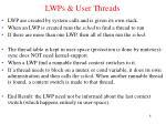 lwps user threads