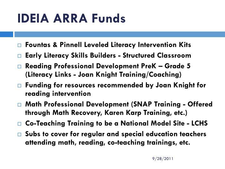 IDEIA ARRA Funds