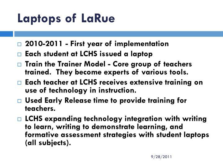 Laptops of LaRue