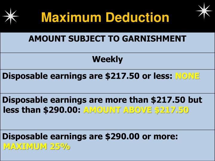 Maximum Deduction