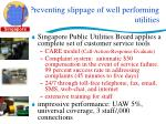 preventing slippage of well performing utilities