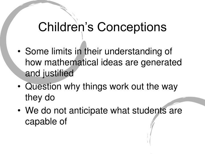 Children's Conceptions