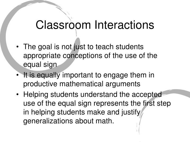 Classroom Interactions