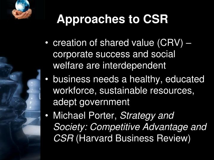 Approaches to CSR