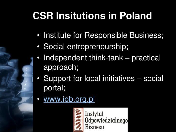 CSR Insitutions in Poland